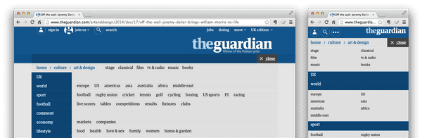 """The Guardian - 'Sitemap'"""